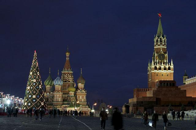 Cây thông Noel lớn nhất nước Nga